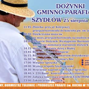 Dożynki Szydłów 2019 plakat.png